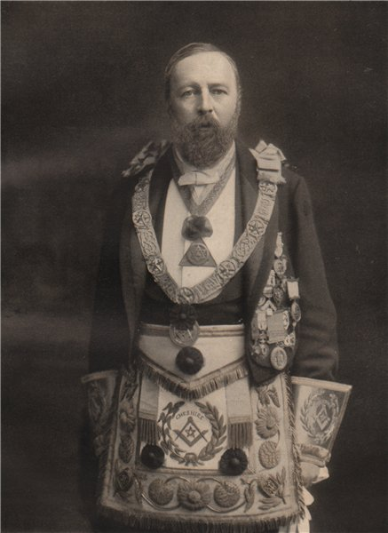 Associate Product FREEMASONRY. Alan de Tatton Egerton, Provincial Grand Master of Cheshire 1882