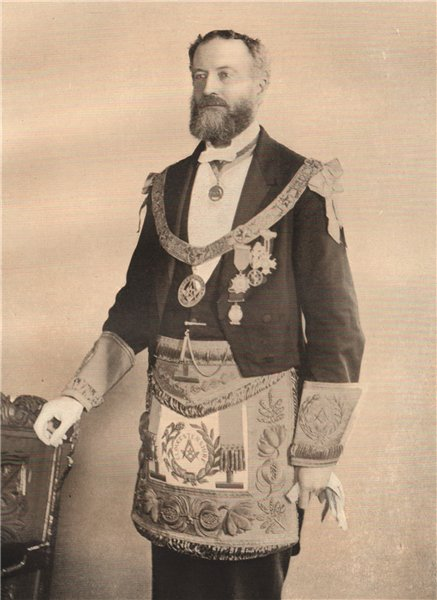 Associate Product FREEMASONRY. Viscount St Aldwyn, Provincial Grand Master of Gloucestershire 1882
