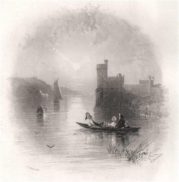 Associate Product Black Rock Castle, Cork. Ireland 1835 old antique vintage print picture