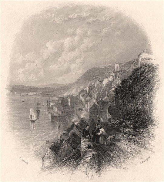 Associate Product The Cove of Cork (Cobh). Ireland 1835 old antique vintage print picture