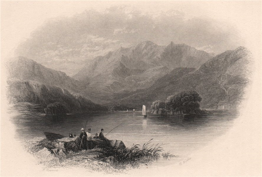 Associate Product Macgillycuddy's Reeks, and the Upper Lake. Ireland 1835 old antique print
