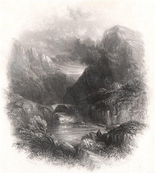 The Gap of Dunloe. At the Lakes of Killarney. Ireland 1835 old antique print