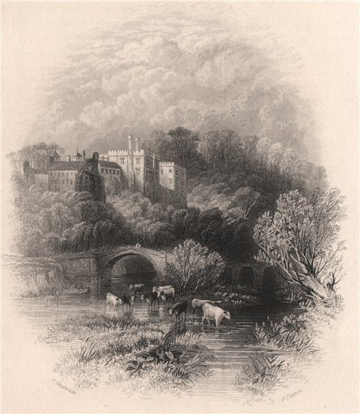 Associate Product Lismore Castle, Waterford. Ireland 1835 old antique vintage print picture
