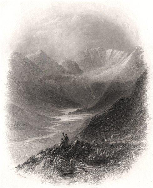 Comme Dhuv (Com-a-Dhuv Coom-Duv), The Black Valley, Kerry. Ireland 1835 print