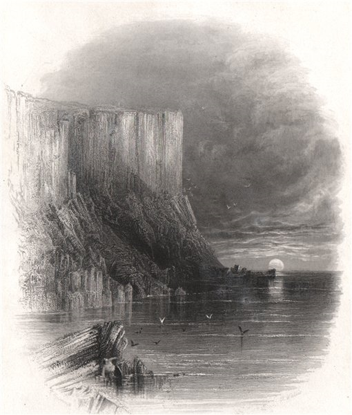 Fair Head (Benmore), Approaching The Giants Causeway. Ireland 1835 old print