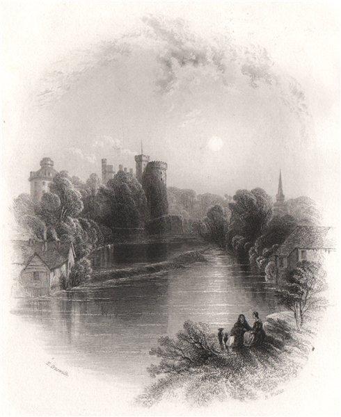 Kilkenny Castle, Kilkenny. Ireland 1835 old antique vintage print picture