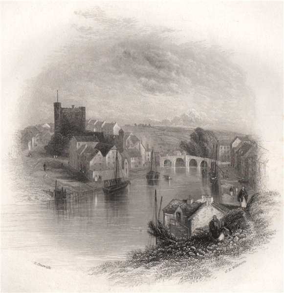 Associate Product Enniscorthy, Wexford. Ireland 1835 old antique vintage print picture