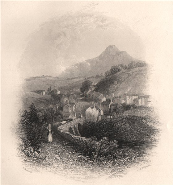 Associate Product Enniskerry, Wicklow. Ireland 1835 old antique vintage print picture