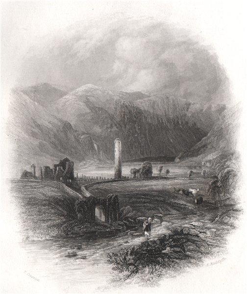 Associate Product Glendalough, Wicklow. Ireland 1835 old antique vintage print picture