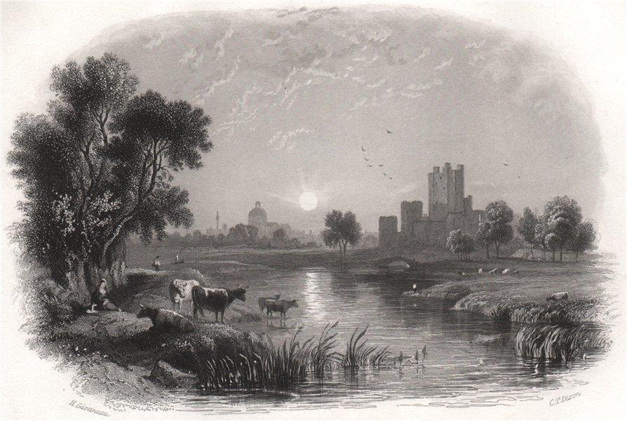 Associate Product Trim, Meath. Ireland 1835 old antique vintage print picture