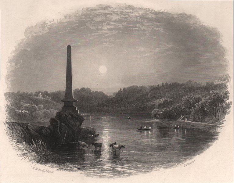 Associate Product The Boyne Obelisk, Louth. Ireland 1835 old antique vintage print picture