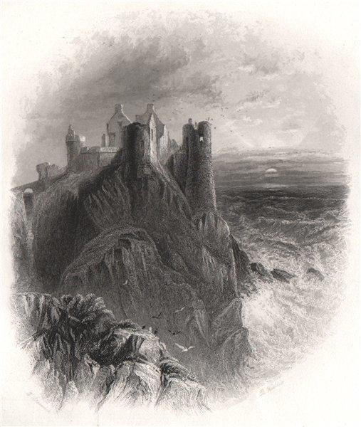 Associate Product Dunluce Castle, Antrim. Ireland 1835 old antique vintage print picture