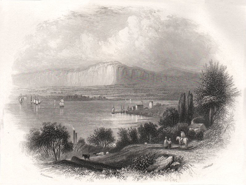 Associate Product Lough Foyle, Londonderry. Ireland 1835 old antique vintage print picture