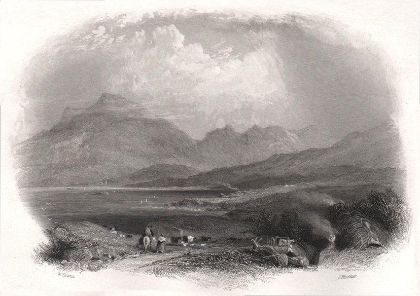 The Killeries (Twelve Bens, Killary harbour), Galway. Ireland 1835 old print