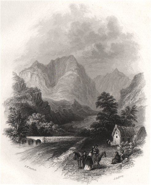 Errive (Erriff river). The Entrance to Connemara from Mayo. Ireland 1835 print