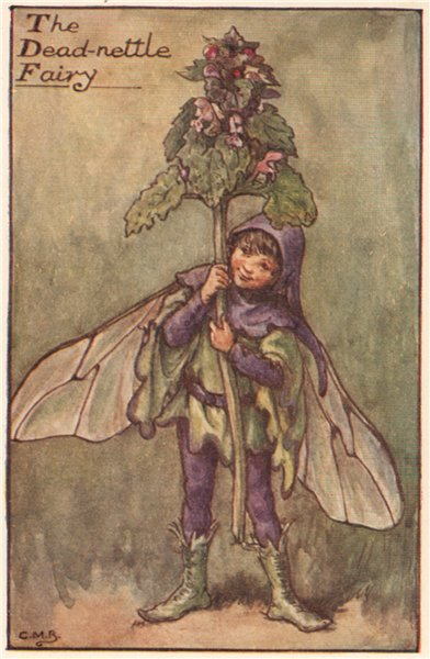 Associate Product Dead-nettle Fairy by Cicely Mary Barker. Spring Flower Fairies c1935 old print