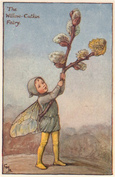 Associate Product Willow-Catkin Fairy by Cicely Mary Barker. Spring Flower Fairies c1935 print