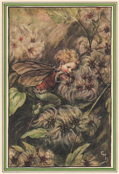 Associate Product Old-Man's-Beard Fairy by Cicely Mary Barker. Winter Flower Fairies 1985 print