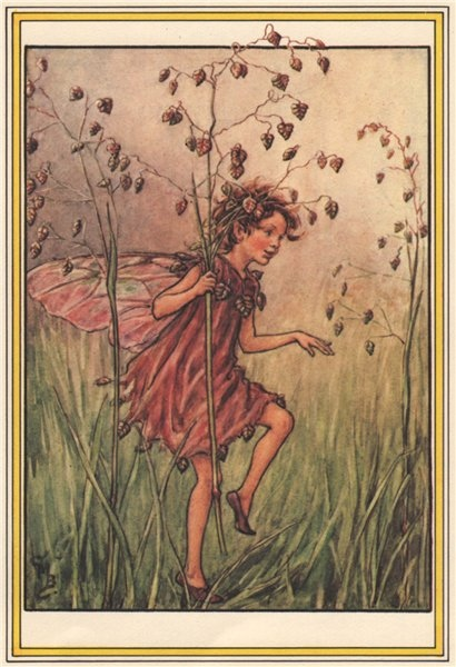 Totter-Grass Fairy by Cicely Mary Barker. Winter Flower Fairies 1985 old print