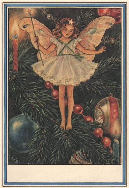 Christmas Tree Fairy by Cicely Mary Barker. Winter Flower Fairies 1985 print