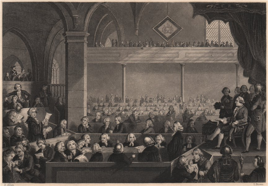Associate Product Church of Scotland General Assembly in 1783. Scots Kirk. Presbyterian 1840