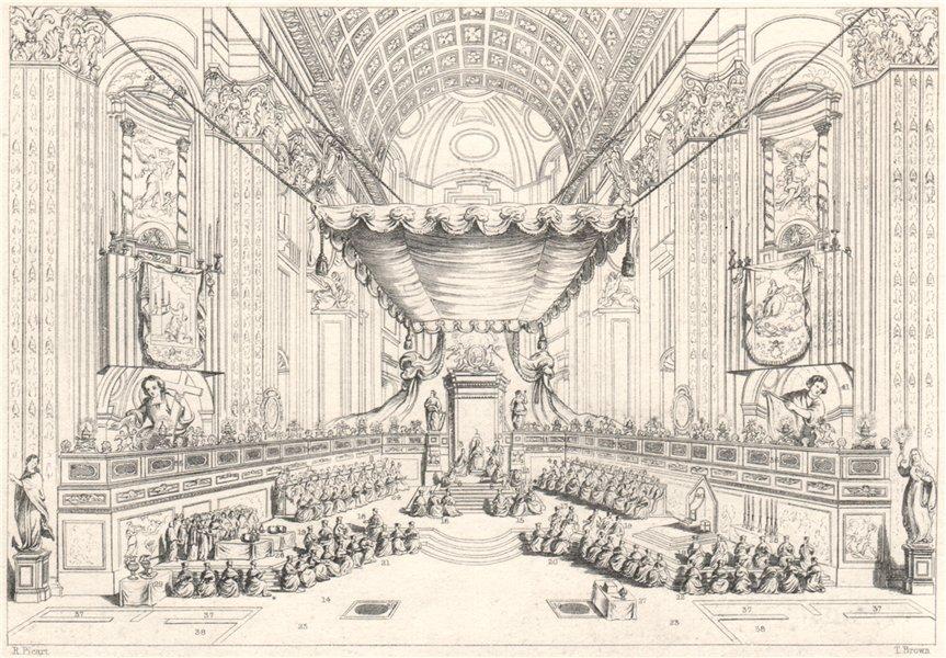 Associate Product Canonization of Saints, St. Peter's Church, Rome, 1712. Key. Catholicism 1840