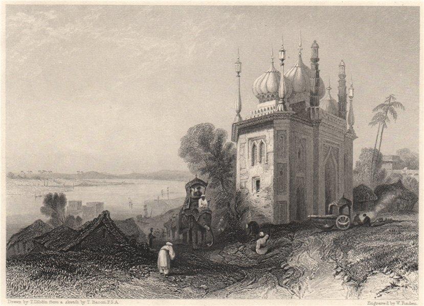 Associate Product Mosque near Faiz Ali Khan's Garden at Ghazipur, India 1840 old antique print