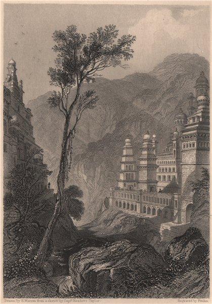 Associate Product Jain Temples, Muktagari. India 1840 old antique vintage print picture