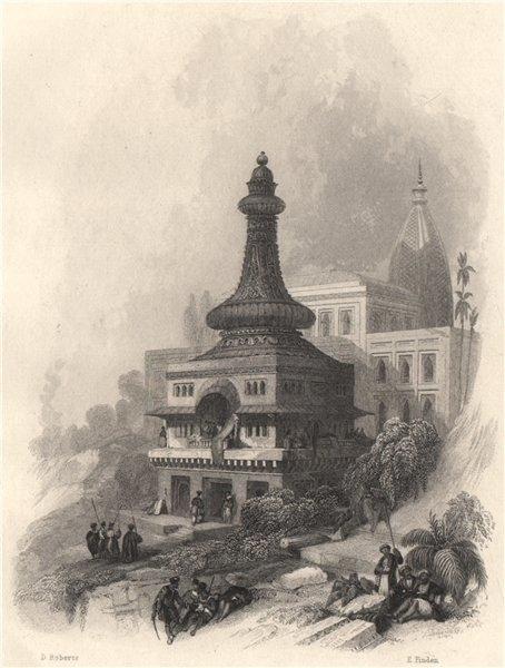 Associate Product Daksheswara Mahadev Temple, Kankhal, India 1840 old antique print picture