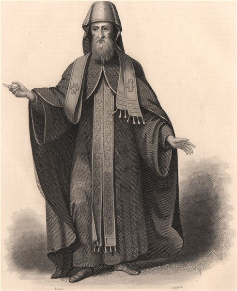 Associate Product A Muscovite Bishop in his pontifical habit. Russian Orthodoxy. Moscow 1840