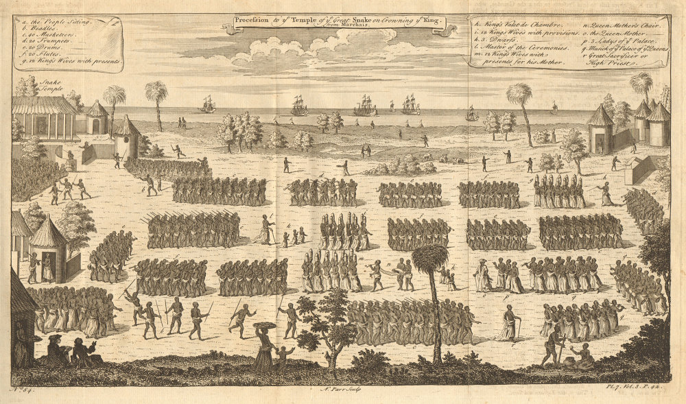 WHYDAH. Coronation procession to the Temple of the Great Snake. PARR 1746