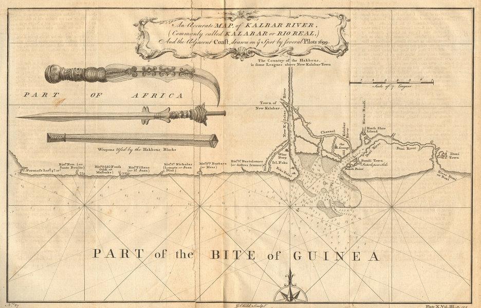 NIGERIA. 'An accurate map of Kalbar [Calabar] River & adjacent coast' 1746