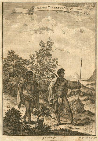 Associate Product SOUTHERN AFRICA. 'Namaqua Hottentots'. Khoikhoi. Namibia. From TACHARD 1746