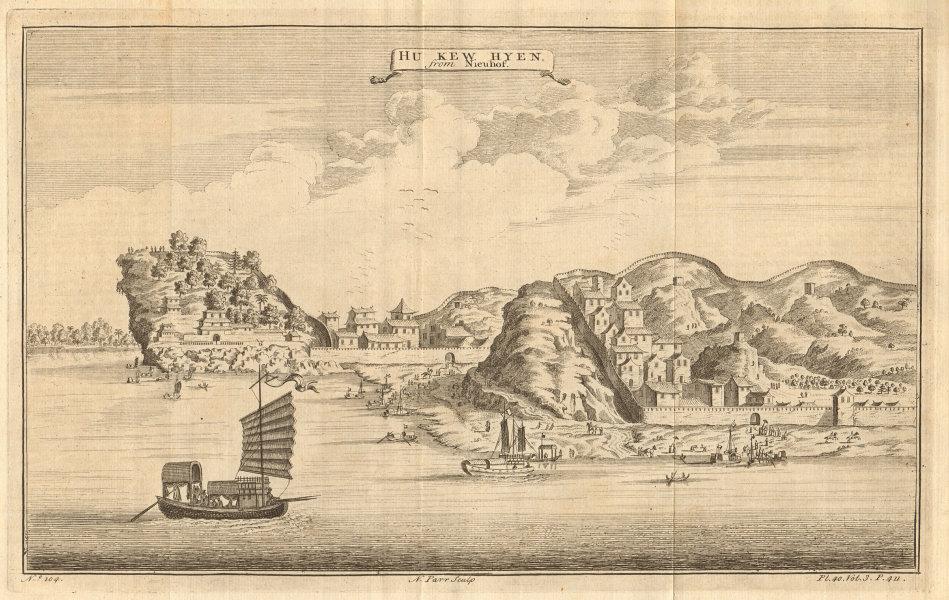 Associate Product CHINA. 'Hu Kew Hyen, or Kyew on the River Kyang'. HUKOU, Jiangxi Province 1746