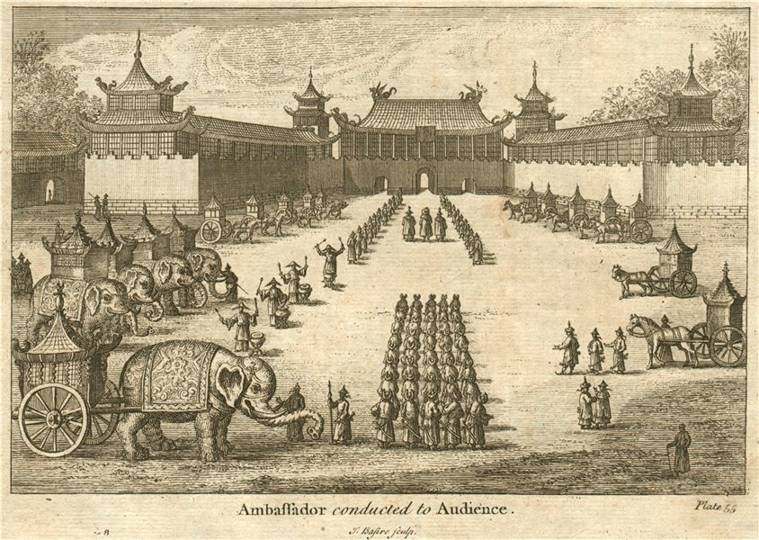 FORBIDDEN CITY, BEIJING. 'Ambassador conducted to Audience'. Peking, China 1746