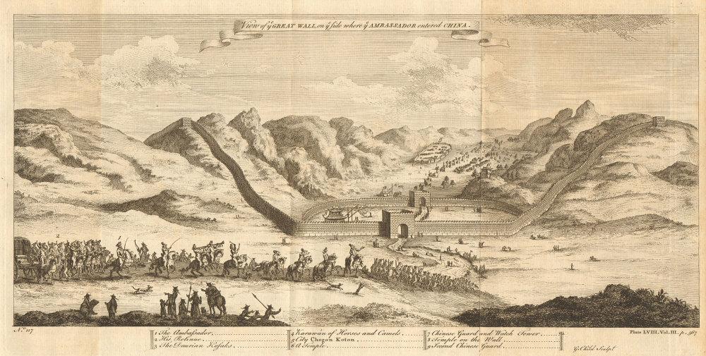 'The Great Wall where the Ambassador entered China'. Juyongguan Pass? CHILD 1746