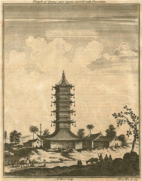 Associate Product CHINA 'Temple of Quang gua myau coverd with Porcelain'. Quangguamiau pagoda 1746