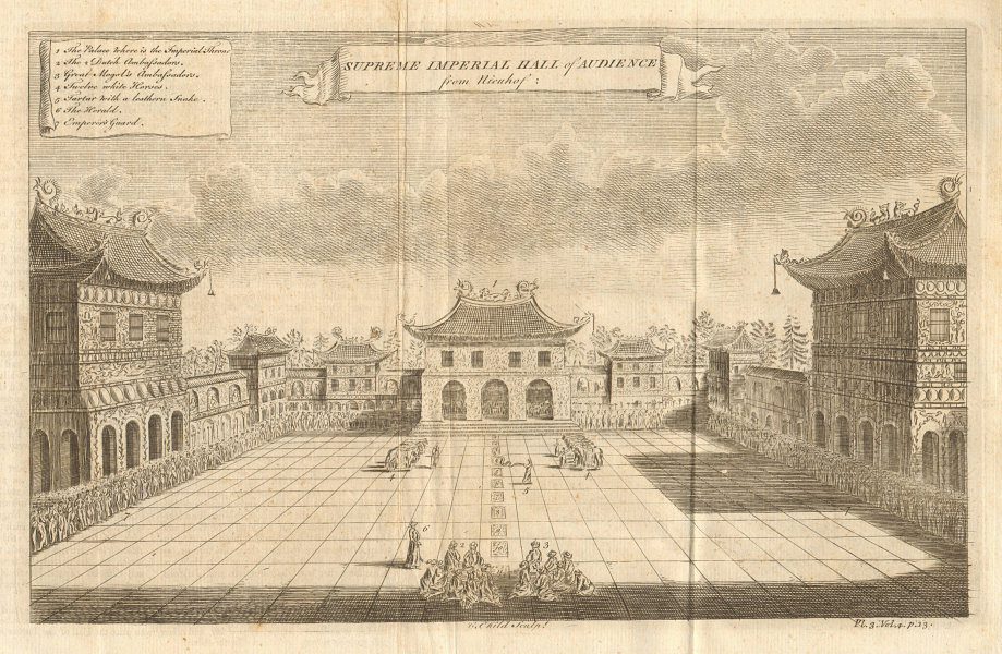 FORBIDDEN CITY, PEKING. Supreme Imperial Hall of Audience. Beijing. G.CHILD 1746