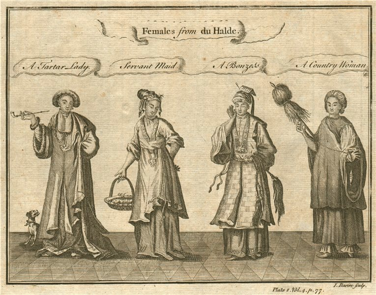 CHINESE LADIES. Tartar Lady. Servant Maid. Bonzess. Country Woman. BASIRE 1746