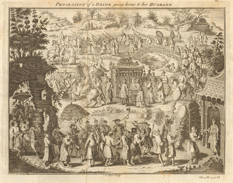 CHINA. The procession of a bride going home to her husband. G. CHILD 1746
