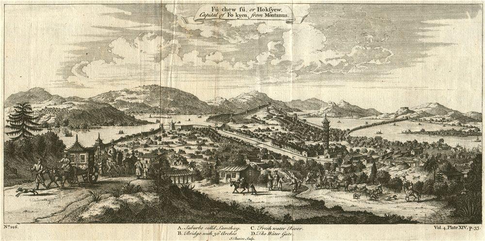 FUZHOU, FUJIAN, CHINA. 'Fu Chew fu or Hoksyew, Capital of Fokyen'. BASIRE 1746