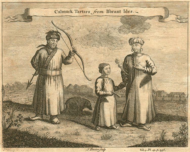 RUSSIA. 'Calmuck Tartars'. Kalmyk Tatars. After ISBRANT IDES 1746 old print