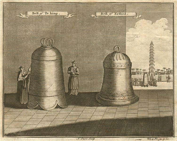 Associate Product CHINA. Bell of Peking/BEIJING.  & Gloriosa Bell of Erford (ERFURT, GERMANY) 1746