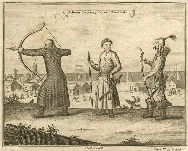 EAST ASIA. 'Eastern Tartars'. Tatars. After NIEUHOF 1746 old antique print