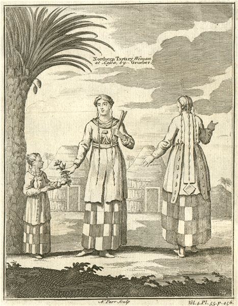 Associate Product TIBET. 'Northern Tartary Woman at Lassa'. Lhasa. Tatars. After GRUEBER 1746