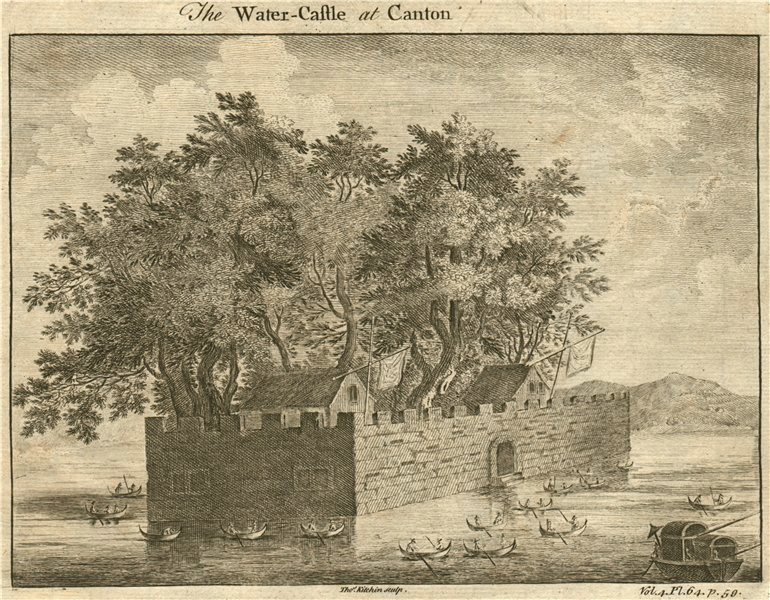CHINA. 'The Water Castle At Canton'. GUANGZHOU. Pearl River Fort. KITCHIN 1746
