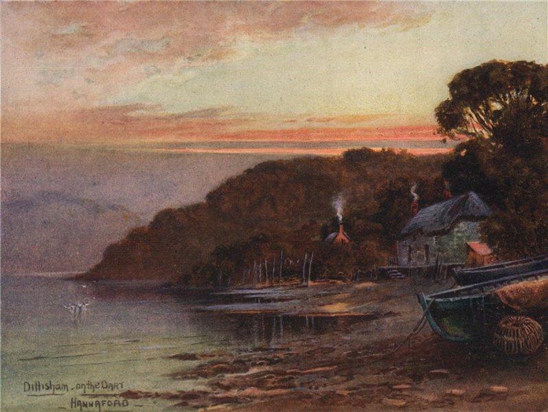 Associate Product Dittisham, on the Dart, South Devon, by Charles E. Hannaford 1907 old print