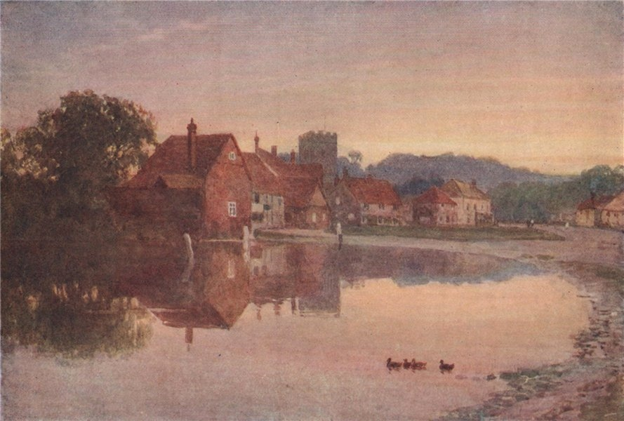 Associate Product Chalfont St. Giles, Buckinghamshire, by Harold Sutton Palmer 1929 print