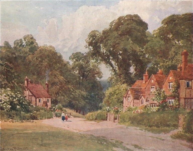 Associate Product Chenies, Buckinghamshire, by Harold Sutton Palmer 1929 vintage print