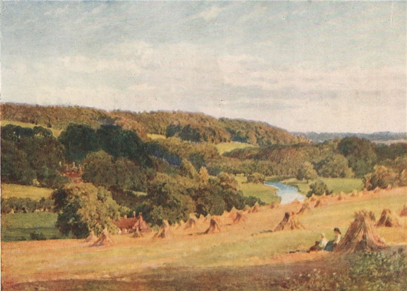Associate Product Valley of the Chess, Buckinghamshire, by Harold Sutton Palmer 1929 print